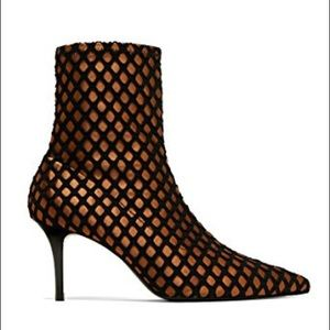 Zara mesh ankle boots